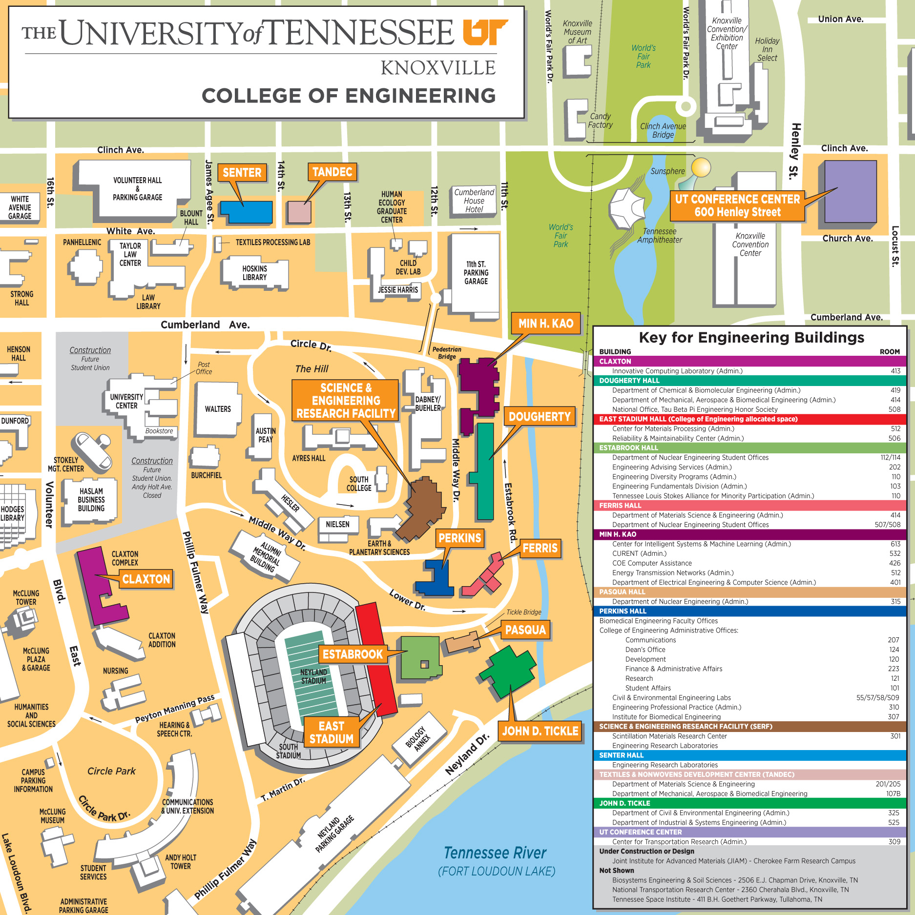 University Of Tennessee Knoxville Campus Map.Reinbolt Research Group Home Contact