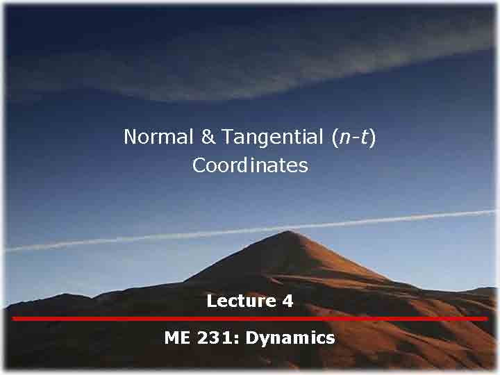 Reinbolt Research Group | Resources | ME 231 | Lectures